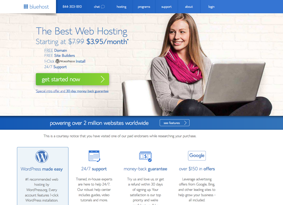 Blue host is a great site to use to start your own blog