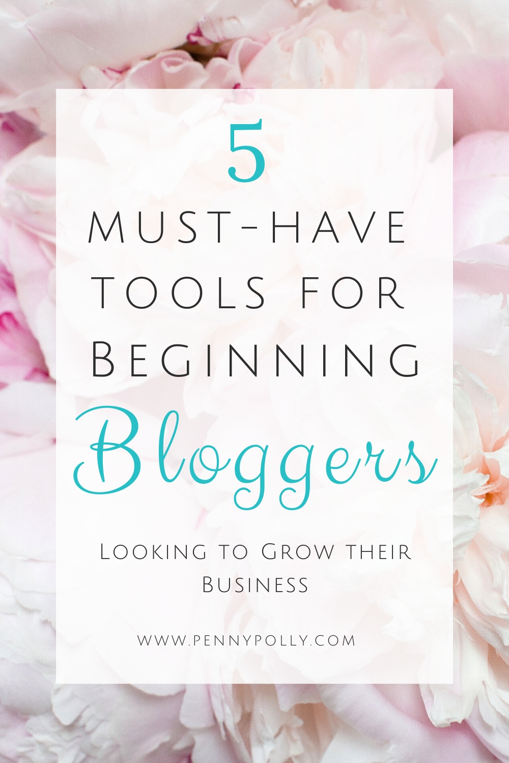 What are the best blogging tools for beginners? It can be hard to know what to do next when you start a blog. These 5 must-have tools for beginning bloggers will help you grow your blog and make your job easier. #bloggingtips #blogging #bloggrowth
