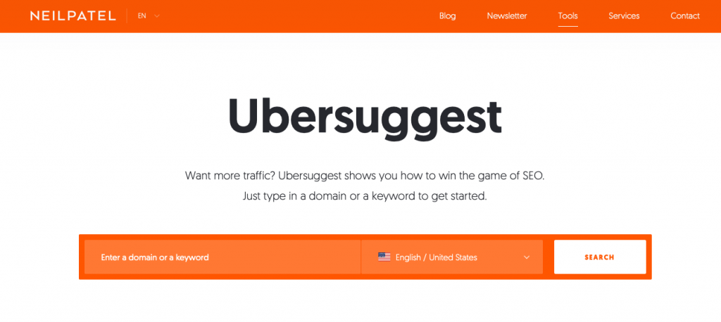 Ubersuggest is another must-have tool for beginning bloggers to improve their SEO