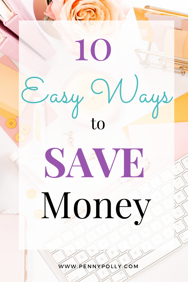 Ok, saving is not fun! But it is so important for your financial health. Try these 10 easy ways to save money and start today! #savingmoney #budget #personalfinance