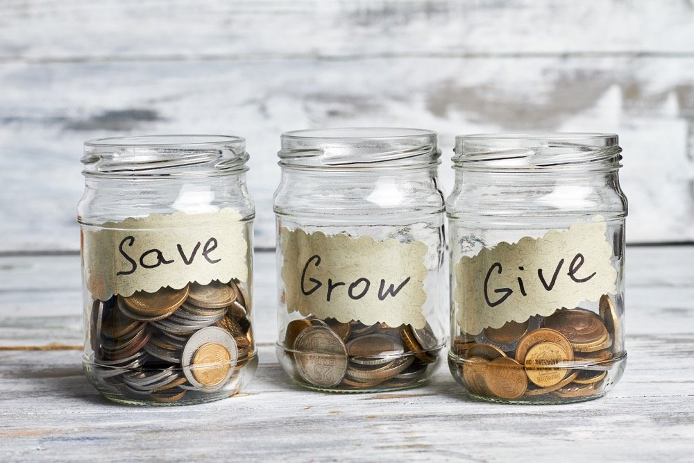 Keeping a change jar is one of many easy ways to save money