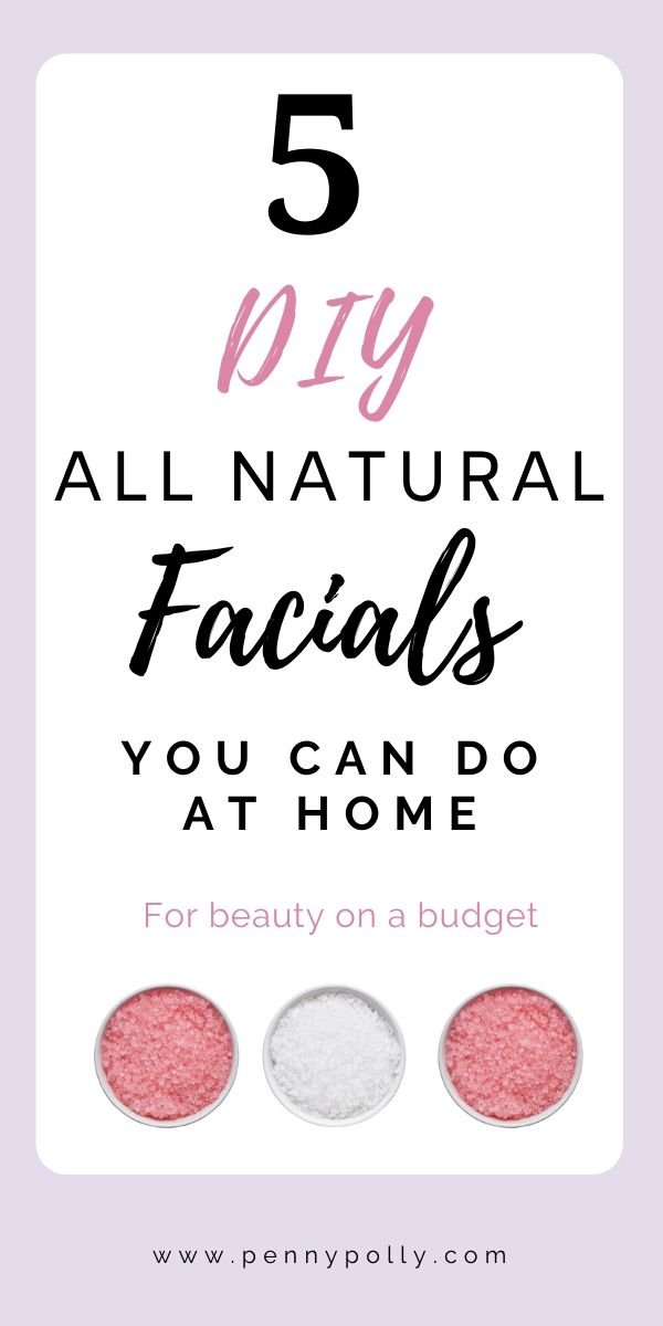 You don\'t have to spend a lot of money for a spa day! Have one at home with these 5 DIY, all-natural facials you can do at home. #beautytips #allnatural #beauty