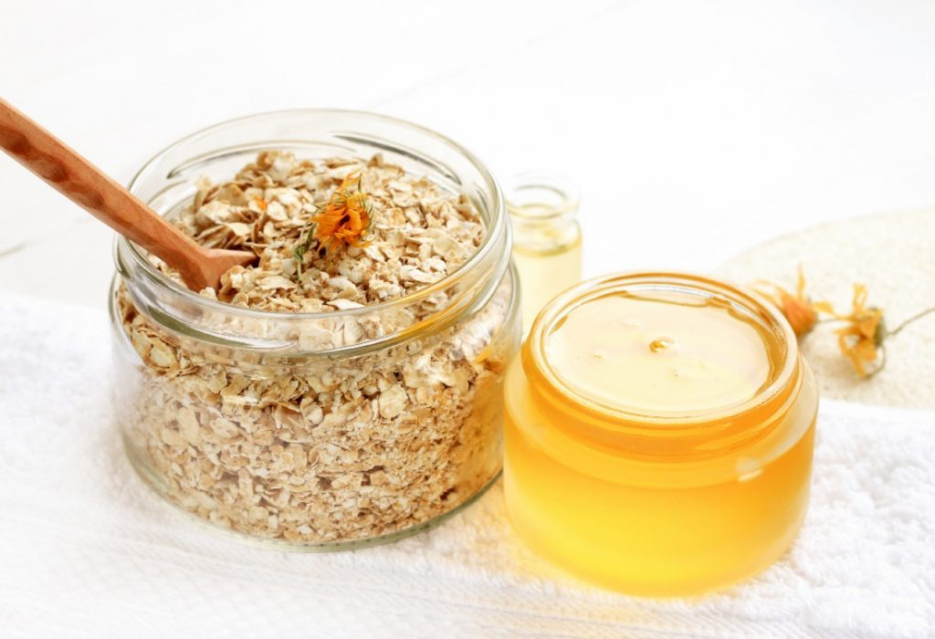 an oatmeal and honey diy facial is all natural
