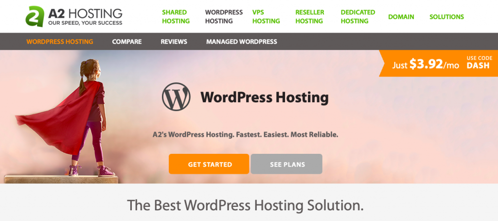 A2 Hosting is designed for speed
