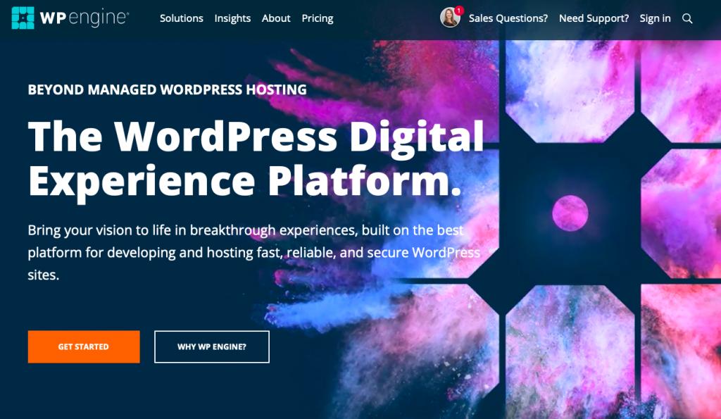WP Engine offers managed WordPress hosting