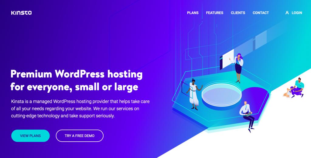 Kinsta is a managed WordPress blog hosting site that provides fast speeds