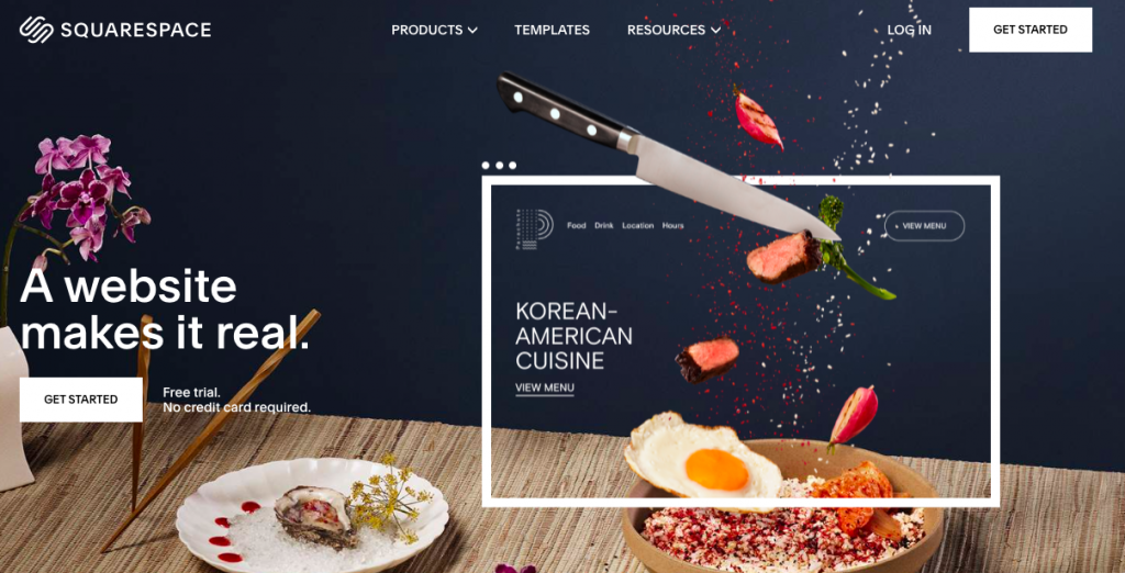 Squarespace is a website builder site that is easy to use
