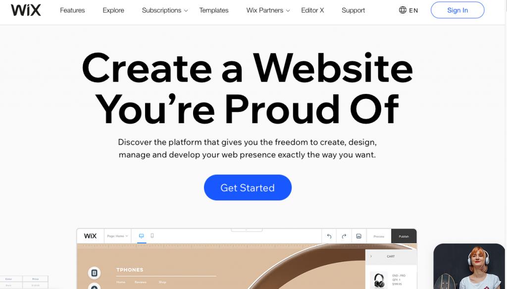 Wix is a website builder