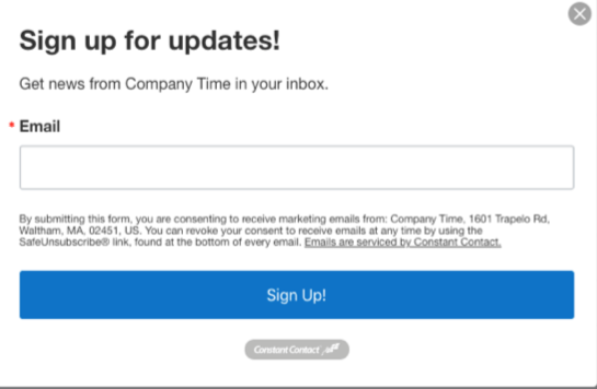 Pop up subscriber forms will help you get new names on your email list