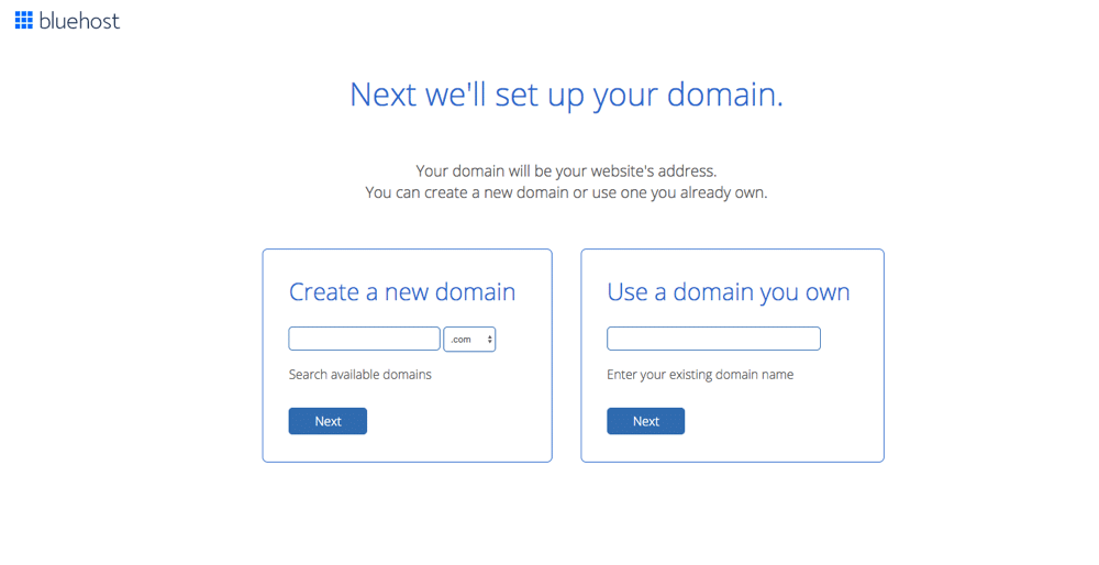 Choose your blog name and register it
